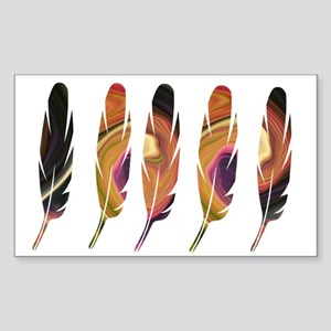 Feathers Five Sticker