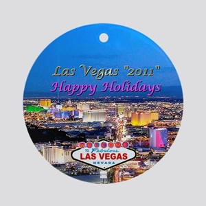 Las Vegas 2011 Holiday Ornament bs (Round)