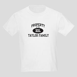 Property of Taylor Family Kids Light T-Shirt
