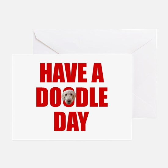 Have A Doodle Day Labradoodle Greeting Cards (Pack