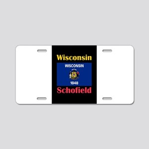 Schofield Wisconsin Aluminum License Plate