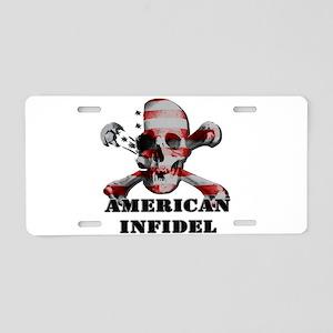 American Infidel Aluminum License Plate