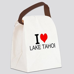 I Love Lake Tahoe Canvas Lunch Bag