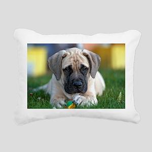 English Mastiff puppy Rectangular Canvas Pillow