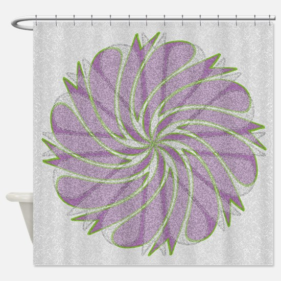Pink Spiral Blossom Shower Curtain