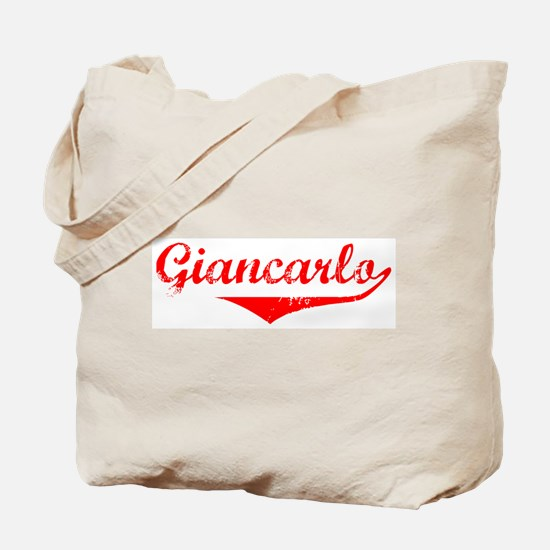 Giancarlo Vintage (Red) Tote Bag