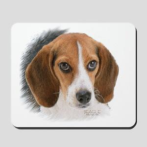 Beagle Close Up Mousepad