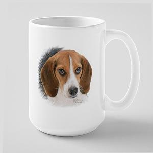 Beagle Close Up Large Mug Mugs