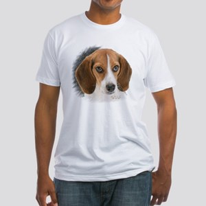 Beagle Close Up Fitted T-Shirt