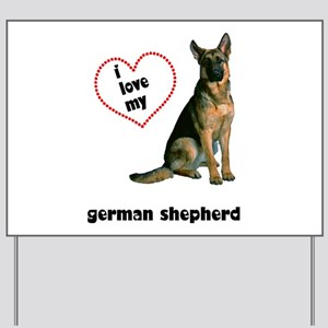 German Shepherd Love Yard Sign