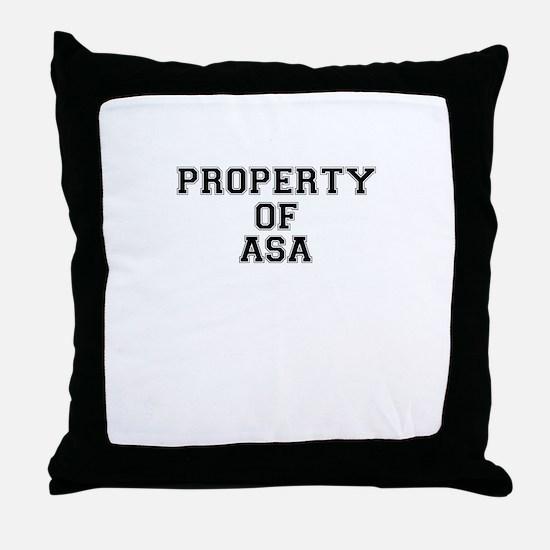 Property of ASA Throw Pillow