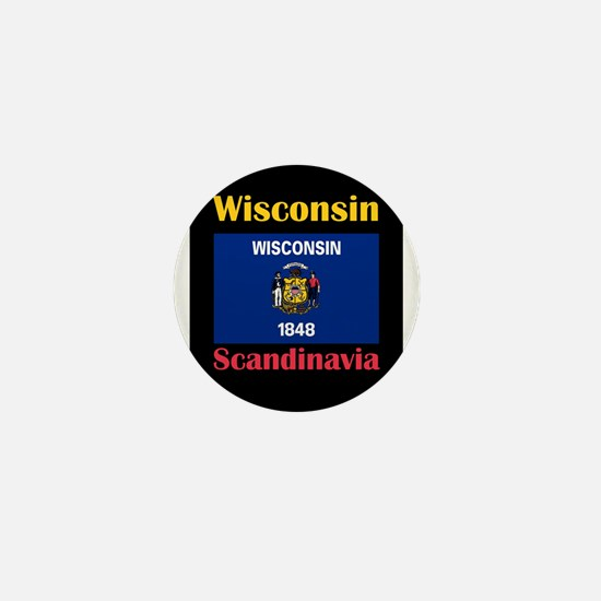 Scandinavia Wisconsin Mini Button