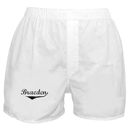 Braeden Vintage (Black) Boxer Shorts