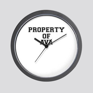 Property of AVA Wall Clock