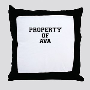 Property of AVA Throw Pillow