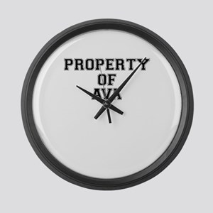 Property of AVA Large Wall Clock