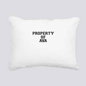 Property of AVA Rectangular Canvas Pillow