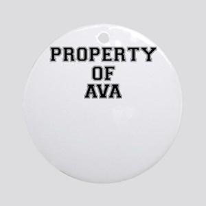 Property of AVA Round Ornament