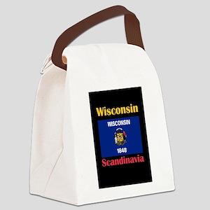 Scandinavia Wisconsin Canvas Lunch Bag