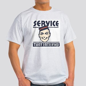 Service That Satisfies Ash Grey T-Shirt