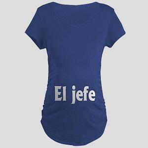 El Jefe (the Boss) Dark Maternity T-Shirt