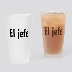 El jefe (The Boss) Drinking Glass