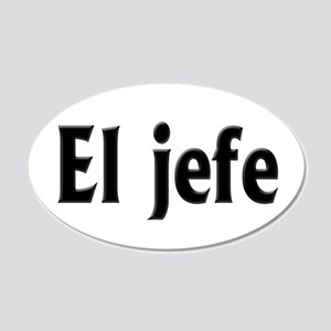 El jefe (The Boss) 20x12 Oval Wall Decal