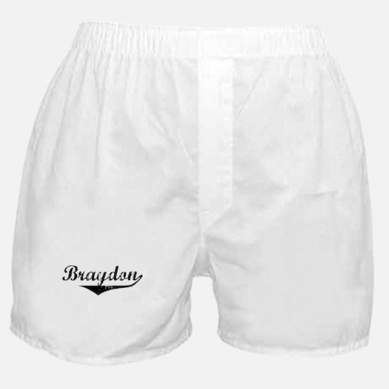 Braydon Vintage (Black) Boxer Shorts