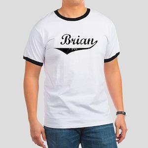 Brian Vintage (Black) Ringer T