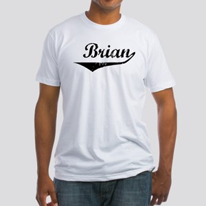 Brian Vintage (Black) Fitted T-Shirt