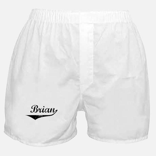 Brian Vintage (Black) Boxer Shorts