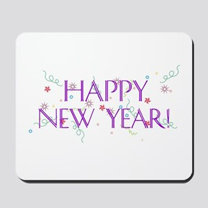 New Year Confetti Mousepad