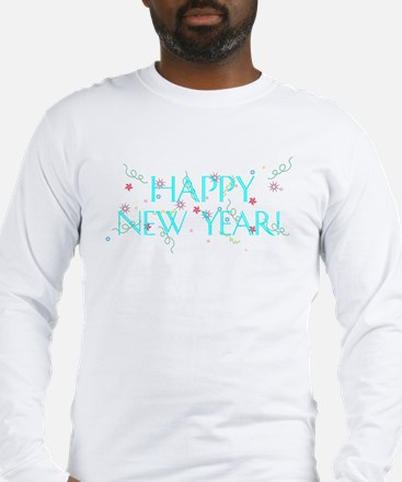 New Year Confetti Long Sleeve T-Shirt