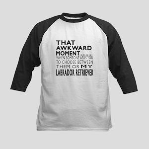 Awkward Labrador Retriever Do Kids Baseball Jersey
