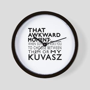 Awkward Kuvasz Dog Designs Wall Clock