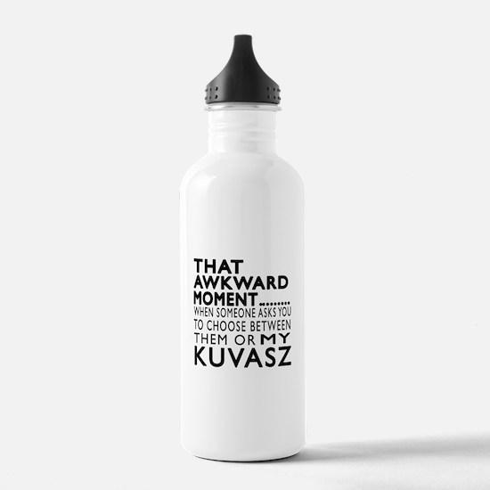 Awkward Kuvasz Dog Des Water Bottle