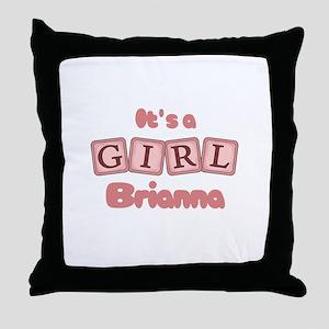 It's A Girl - Brianna Throw Pillow