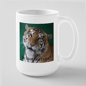 Do I look like I care? Large Mug