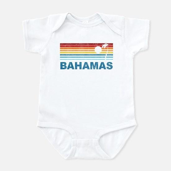 Retro Bahamas Palm Tree Infant Bodysuit