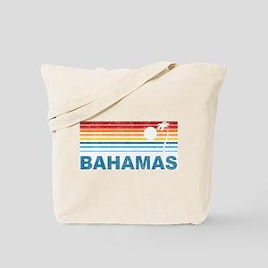 Retro Bahamas Palm Tree Tote Bag
