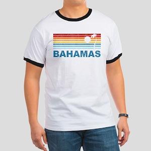 Retro Bahamas Palm Tree Ringer T