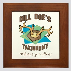 Dill Doe's Taxidermy Framed Tile