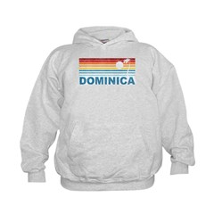 Retro Dominica Palm Tree Hoodie