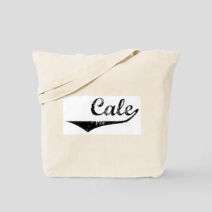 Cale Vintage (Black) Tote Bag