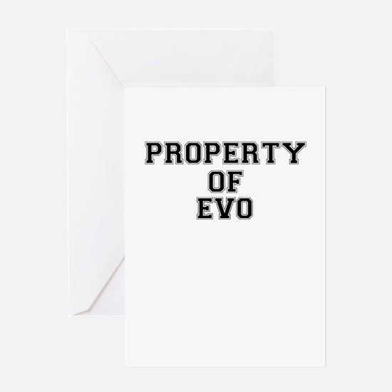 Property of EVO Greeting Cards