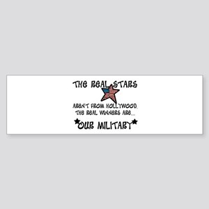 Military Stars Bumper Sticker