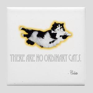 No Ordinary Cats Tile Coaster