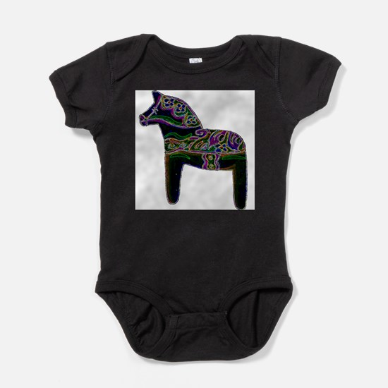 Swedish Dala Horse Infant Bodysuit Body Suit