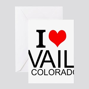 I Love Vail, Colorado Greeting Cards