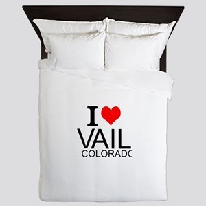 I Love Vail, Colorado Queen Duvet